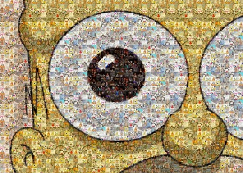 Create a mosaic pattern using your facebook photos for How to draw mosaic patterns